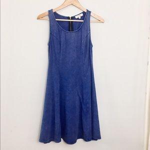 Umgee indigo blue sleeveless tank dress size L